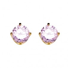 Inverness 5mm 24K CZ GP #30 Pink Ice Earring