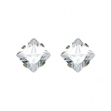 Inverness 7mm CZ Square #355 Earring