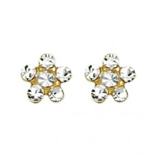 Inverness Crystal #805 Earring 24KT GP
