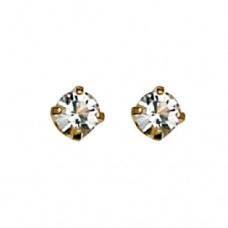 Inverness April Crystal Tiffany Earring 3mm 24KT GP #84