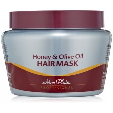 MON PLATIN Honey and Olive Oil Hair Mask For Dry/ Damaged Coloured or Permed Hair 500ml