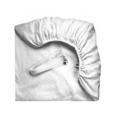 Terry Fitted Sheet- with hole white